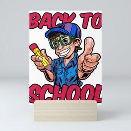 Schoolcontest 1st Day of School Scholar Gift Idea Mini Art Print