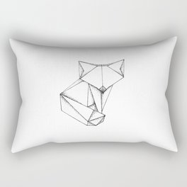 Origami Fox Rectangular Pillow