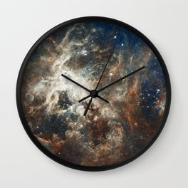 In the Heart of the Tarantula Nebula Wall Clock