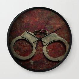 Rusty handcuffs Wall Clock