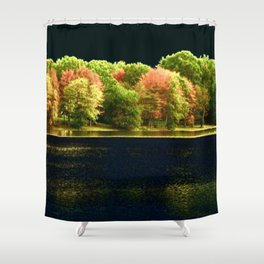 Autumn At Night Shower Curtain
