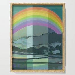 Hopeful Rainbow Serving Tray