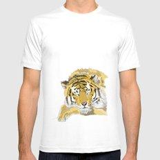 Sleepy Tiger MEDIUM Mens Fitted Tee White