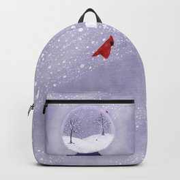 Cardinals in Snow Globe Backpack