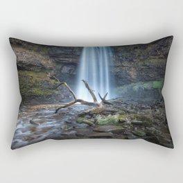The fallen tree at Henrhyd Rectangular Pillow