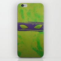 tmnt iPhone & iPod Skins featuring TMNT Donnie by Some_Designs