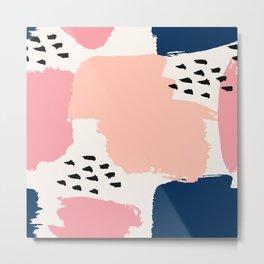 Abstract Pastels Metal Print