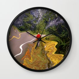 Mountain Walk Wall Clock
