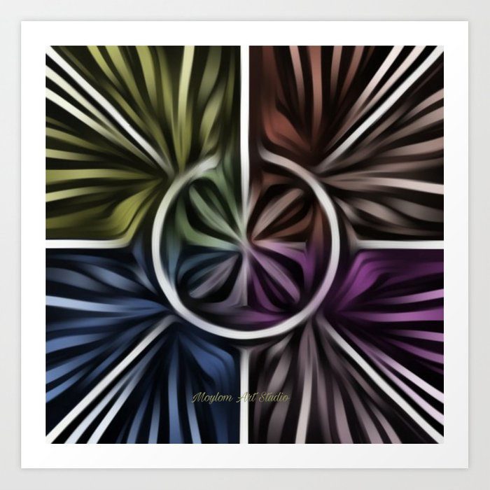 Pinwheel 15 Art Print