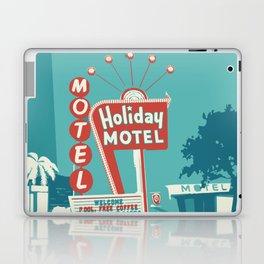 Vintage car and motel sign 50es style Laptop & iPad Skin