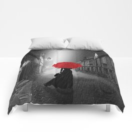 Alone in the rainy night Comforters