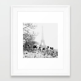 Paris Black & White Framed Art Print