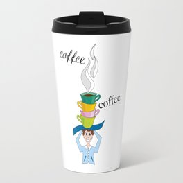 cups of steaming coffee Travel Mug