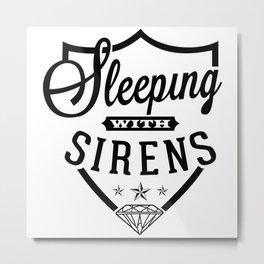 sleeping with sirens logo Metal Print