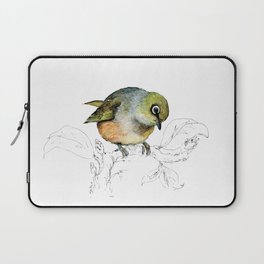 Sylvereye - Waxeye bird Laptop Sleeve