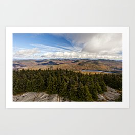 on top of blue mountain Art Print