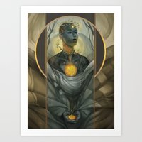 honeycomb Art Prints featuring Honeycomb by Julie Dillon