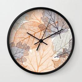 Autumn's Falling Leaves Wall Clock