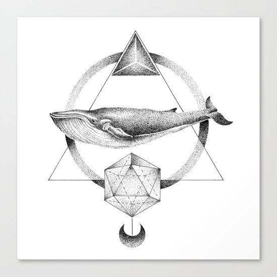 GEOMETRIC WHALE Canvas Print