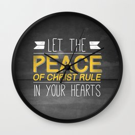 Let Peace Rule - Colossians 3:15 Wall Clock