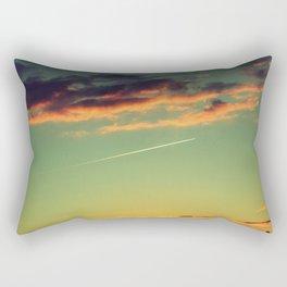 Sunset and Airplanes Rectangular Pillow
