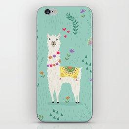 Festive Llama iPhone Skin