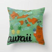 hawaii Throw Pillows featuring HAWAII by Christiane Engel