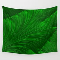 renaissance Wall Tapestries featuring Renaissance Green by Charma Rose