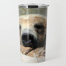 Bearly Hanging On Travel Mug