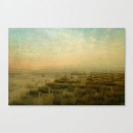 dawn at the wadden sea Canvas Print