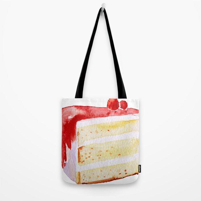 Cherry Cake Tote Bag