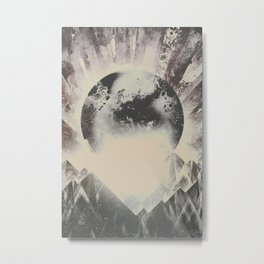 New day new mountains to climb Metal Print
