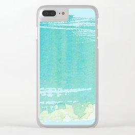 Nautical Seascape Clear iPhone Case
