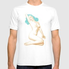 MARILYN SEA MEDIUM White Mens Fitted Tee