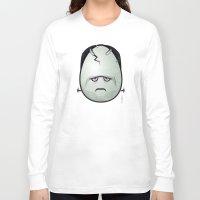 frankenstein Long Sleeve T-shirts featuring Frankenstein by Marcos Lozano