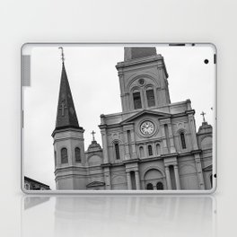 St. Louis Cathedral in Black and White Laptop & iPad Skin