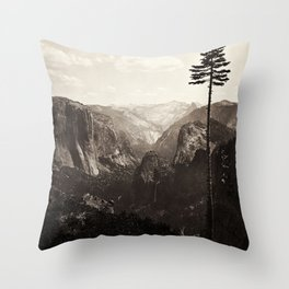 Vintage Yosemite Valley, California, ca. 1865 Throw Pillow