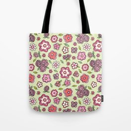 Whimsical Spring Flowers Tote Bag