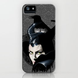 Maleficient and the crows iPhone Case
