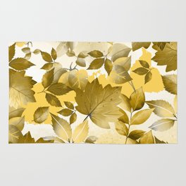 Watercolor Autumn Leaves 10 Rug