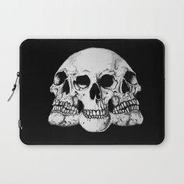 Threesome Skull - Black version Laptop Sleeve