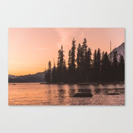 Forest Island at the Lake - Nature Photography Canvas Print