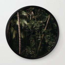 Green forest Siquijor Phillipines    green scenery    Travel Photography   Dark & Green Art Print Wall Clock