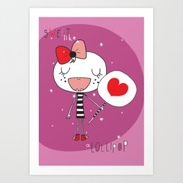 Sweet like a lollipop Art Print