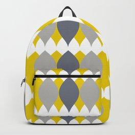 Geometric Lemon Pattern Ultimate Gray Illuminating Yellow Backpack
