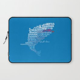 Shark in Different Languages Laptop Sleeve