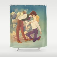 happiness Shower Curtains featuring Happiness by Marta Milczarek