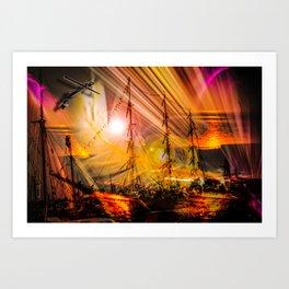 Romance of sailing Art Print