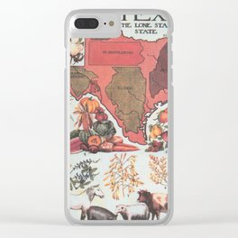 Vintage Texas Agricultural Map (1922) Clear iPhone Case