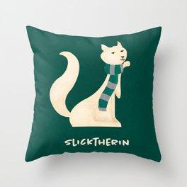 SLICKTHERIN Throw Pillow